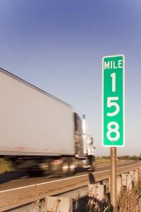 Mile-marker-sign