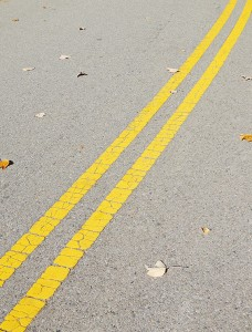Double Solid Yellow Lines