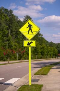 Pedistrian-Street-Sign