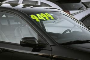 car price on car lot