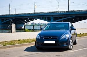 car by bridge
